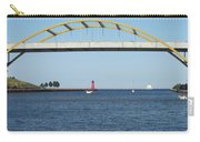 Hoan Bridge Boats Light House 2 Carry-all Pouch