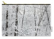 Hoar Frost Covered Trees In Forest Carry-all Pouch