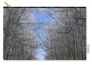 Hoar Frost On Campground Road Carry-all Pouch
