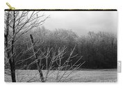 Hoar Frost On The Wood Carry-all Pouch