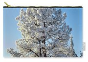 Hoar Frost Ponderos Pine Tree, Sundance Carry-all Pouch