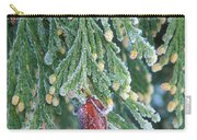 Hoarfrost On Pine Bough Yosemite National Park Carry-all Pouch