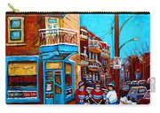 Hockey At Wilensky's Diner Carry-all Pouch