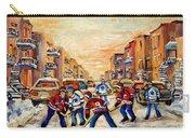 Hockey Daze Carry-all Pouch by Carole Spandau