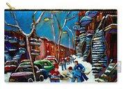 Hockey Game On De Bullion Montreal City Scene Carry-all Pouch