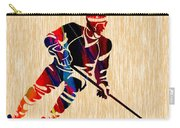 Hockey Player Carry-all Pouch by Marvin Blaine