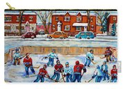 Hockey Rink At Van Horne Montreal Carry-all Pouch