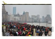 Holiday Crowds Throng The Bund In Shanghai China Carry-all Pouch