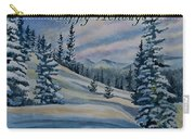 Happy Holidays - Winter Landscape Carry-all Pouch