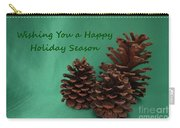 Holiday Pine Cones Carry-all Pouch