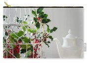 Holly And Berries Birdcage Carry-all Pouch