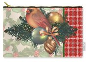 Holly And Berries-c Carry-all Pouch