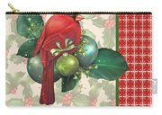 Holly And Berries-d Carry-all Pouch