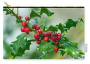 Holly Berries Carry-all Pouch by Sharon Talson