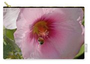 Hollyhock And Bee Carry-all Pouch