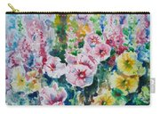 Hollyhocks  Carry-all Pouch