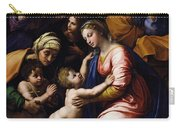 Holy Family Known As The Grande Famille Of Francois I, 1518 Oil On Canvas Carry-all Pouch
