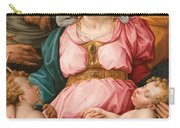 Holy Family With The Infant Saint John The Baptist And Saint Francis Carry-all Pouch by Giorgio Vasari