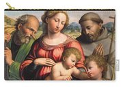 Holy Family With The Infant St. John The Baptist And St. Francis Carry-all Pouch