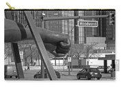 Homage To Joe Louis Bw Carry-all Pouch