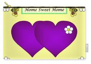 Home Sweet Home Purple Hearts 1 Carry-all Pouch