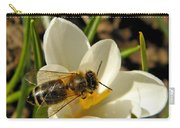 Honey Bee And Crocus Carry-all Pouch