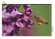 Honey Bee And Lilac Carry-all Pouch