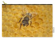 Honey Bee Colony On Honeycomb Carry-all Pouch