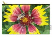 Honey Bee On A Indian Blanket Carry-all Pouch