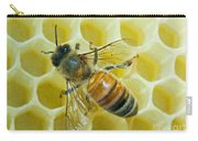 Honey Bee In Hive Carry-all Pouch