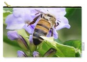 Honey Bee On Lavender Flower Carry-all Pouch