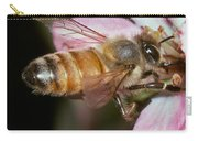 Honeybee Apis Sp. Collecting Pollen Carry-all Pouch