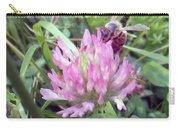 Honeybee Enjoying The Wild Purple Clover Carry-all Pouch