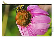 Honeybee On Echinacea Flower Carry-all Pouch