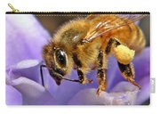 Honeybee On Hyacinth Carry-all Pouch