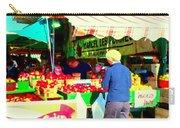 Honeycrisp Apples Fruit Stand Marcel Les Pommes St Joseph Du Lac  Food Art Scenes Carole Spandau Carry-all Pouch