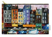 Honfleur-normandie - Palette Knife Oil Painting On Canvas By Leonid Afremov Carry-all Pouch