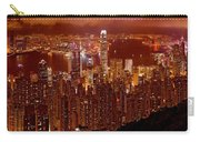 Hong Kong In Golden Brown Carry-all Pouch