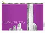 Hong Kong Skyline 2 - Plum Carry-all Pouch