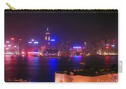 Hong Kong Skyline Carry-all Pouch by Pixel  Chimp
