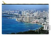 Honolulu And Waikiki From Diamond Head Carry-all Pouch