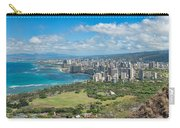 Honolulu From Diamond Head Crater Carry-all Pouch
