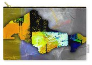 Honolulu Map And Skyline Watercolor Carry-all Pouch