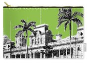 Honolulu Skyline Iolani Palace - Olive Carry-all Pouch