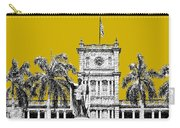 Honolulu Skyline King Kamehameha - Gold Carry-all Pouch