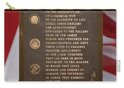 Honor The Veteran Signage With Flags 2 Panel Composite Digital Art Carry-all Pouch