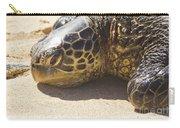 Honu - Hawaiian Sea Turtle Hookipa Beach Maui Hawaii Carry-all Pouch