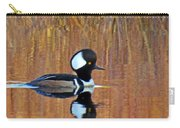 Hooded Merganser At Sunset Carry-all Pouch