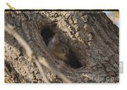 Hooded Merganser In The Knot Hole  Carry-all Pouch