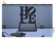 Hope And Chairs In Cyan Carry-all Pouch